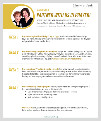 PRAYER POINTS - Marilyn Hickey Ministries