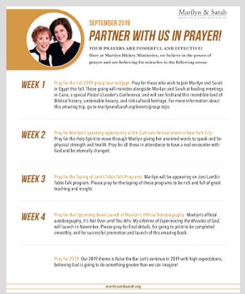 PRAYER POINTS - Marilyn Hickey Ministries
